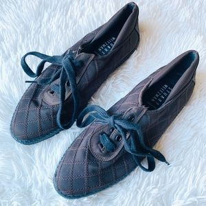 Stuart Weitzman Brown Stitch Quilted Lace Sneaker